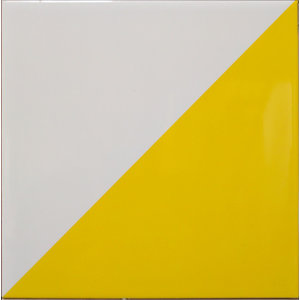 Two Tone Tiles, Yellow and White, Small