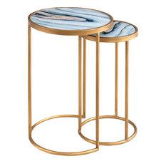 Marlington Agate Nesting Table Set - Gold