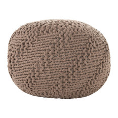 Haley Indoor Handcrafted Modern Fabric Weave Pouf