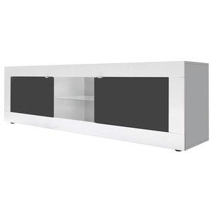 Dolcevita II Gloss TV Stand, White Gloss/Grey