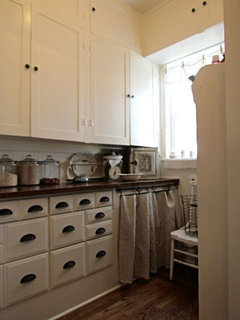 Beadboard Wallpaper Kitchen Cabinets