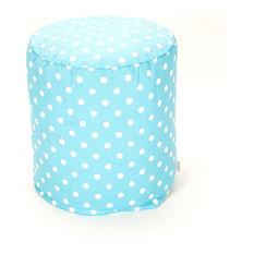 Indoor Aquamarine Small Polka Dot Small Pouf