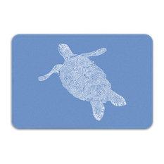 "Elegant Turtle Bath Mat, 34""x21"""