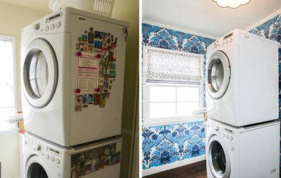 Reader Laundry: Pretty Wallpaper Pleases a Fan of Washday