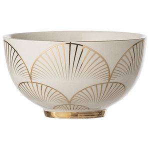 Bloomingville Aruba Scallop Bowl, Gold