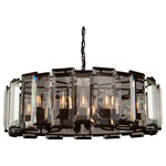 Artcraft - Artcraft Lighting AC10262 Palisades Drum Chandelier, Matt Black - The way light shines through the surrounding beveled glass prisms in the Palisades collection will illuminate any room in spectacular fashion. Presented with a matte black finish in 4 different style variations. (12 light chandelier)
