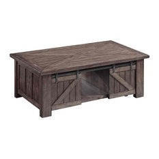 Magnussen Garrett Lift-Top Cocktail Table With Casters Weathered Charcoal
