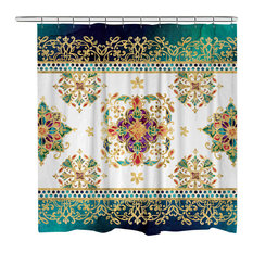 Laural Home   Laural Home Moroccan Jewels Shower Curtain   Shower Curtains