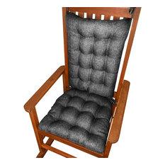 Barnett Home Decor   Hayden Pewter Gray Rocking Chair Cushions, Latex Foam  Fill, Extra