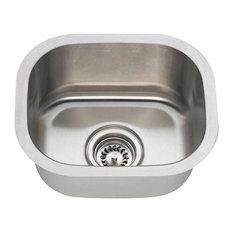 mr direct sinks and faucets   polaris 12 625   undermount 18 gauge bar sink   12 deep kitchen sinks   houzz  rh   houzz com