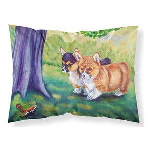 Pembroke Corgi At The Cottage Moisture Wicking Fabric Standard Pillowcase Traditional Pillowcases And Shams By The Store