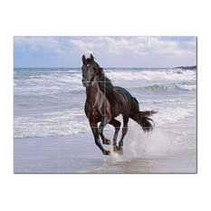 Horse Photo Ceramic Tile Mural Kitchen Backsplash Bathroom Shower, 405252-L43