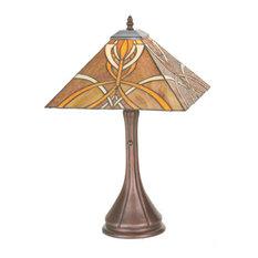 "Meyda Tiffany 99033 21""H Glasgow Bungalow Table Lamp"