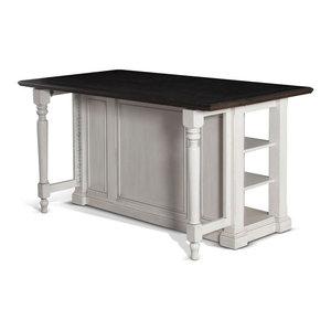 Sunny Designs Sedona Kitchen Island Table, Rustic Oak ...