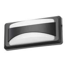 Truro Outdoor LED Rectangular Split Design Wall Light, Black