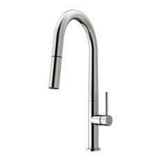 VIGO Greenwich Pull-Down Spray Kitchen Faucet, Chrome, Stainless Steel