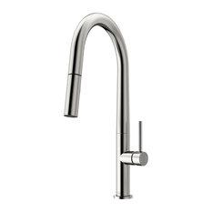VIGO Greenwich Pull-Down Spray Kitchen Faucet, Stainless Steel