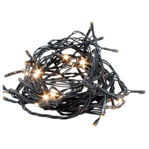 Indoor / Outdoor Fairy Lights 200 Warm White Bulbs, 30 Metre Black Wire