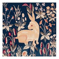 Rabbit in Blue II European Cushion