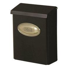 solar group mailbox black vertical mount lockable mailboxes - Modern Mailboxes