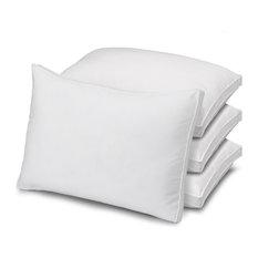 4-Pack Gusseted Microfiber Medium Density Pillows, Queen