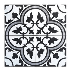Rustico Tile and Stone - Roseton B Cement Tile Design, Set of 13, 8x8 - Wall and Floor Tile