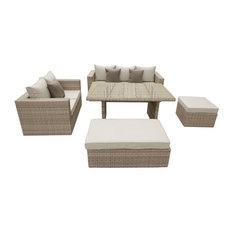 Oasis 5-Piece Sofa Dining Set, Beige