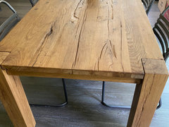 Restoration Hardware S Parsons Reclaimed Russian Oak Table Care