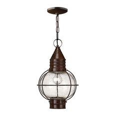 Hinkley Cape Cod Outdoor Medium Hanging Lantern, Sienna Bronze