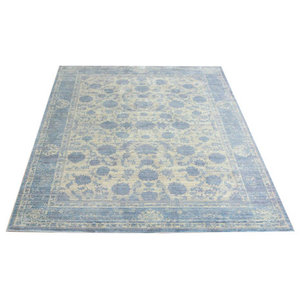 Aqua Silk Grey Light Blue Rectangular Rug, 275x366 cm