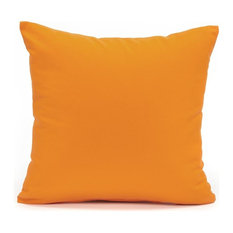 """Solid Orange Accent, Throw Pillow Cover, 20""""x20"""""""