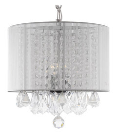 Crystal chandelier with shade white contemporary chandeliers white crystal chandelier with white shades more info mozeypictures Images
