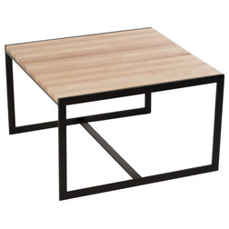 Epic Industrial Coffee Tables Ansted Square Coffee Table Oil Rubbed Bronze Hickory