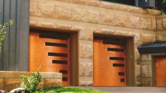 Custom Wood Garage Door - Model EX-355GG-St. Augustine
