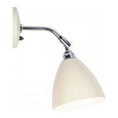 Task Short Wall Light, Cream