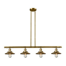 "Innovations 4-LT Railroad 48"" Adjustable Island-LT - Brushed Brass"
