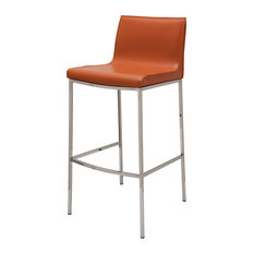 Colter Leather Stool, Ochre, Bar Height