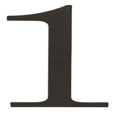 "Atlas TRN1-BL: 6"" Traditionalist House Number: 1 - Black"