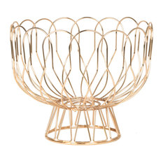 Wire Fruit Basket, Copper