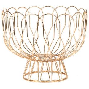Wire Fruit Basket, Copper