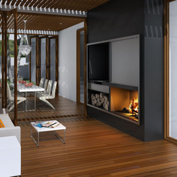 Breakaway Outdoor Fireplace and BBQ