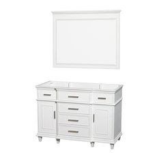 "Berkeley 48"" Vanity, White, 44"", No Countertop, No Sink"