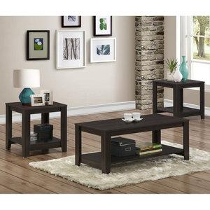 Exceptionnel Sauder Beginnings 3 Piece Coffee Table Set In Cinnamon ...