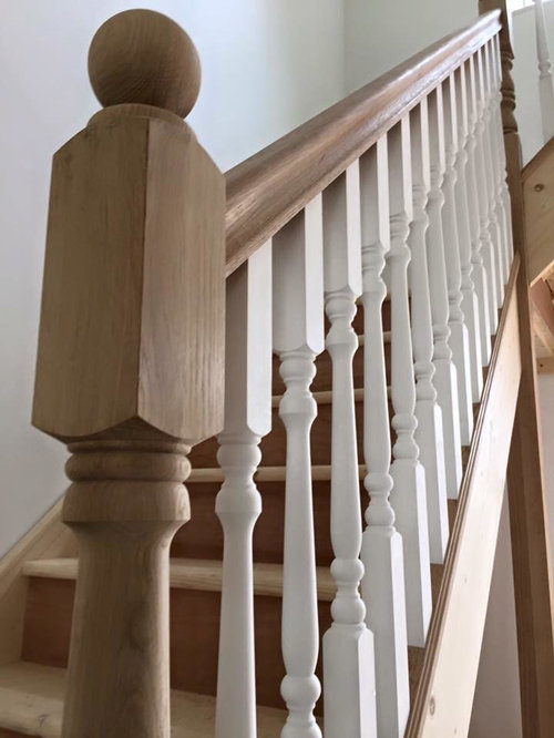 Captivating Pine Staircase With Oak And White Primed Stair Parts