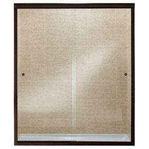 Finesse 54 6 59 X70 Sliding Shower Door Bronze Clear Gl