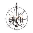 """Kira Home Orbits 18"""" 4-Light Sphere/Orb Pendant Chandelier,, 24"""" Bronze"""