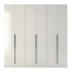 MOD - Pierce Place 4-Drawer Wardrobe, White Gloss and High Gloss - Armoires and Wardrobes