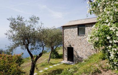 Houzz Tour: Den gamla ladan med havsutsikt i Ligurien