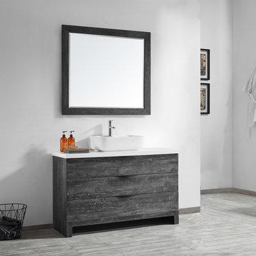 Square Vessel Sink Vanity