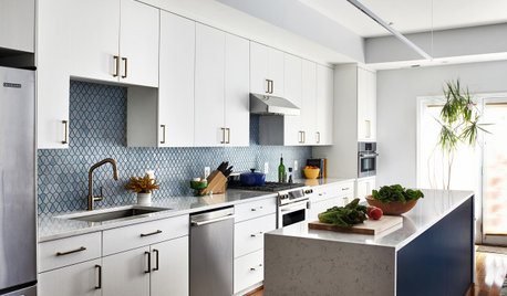Kitchen of the Week: A Galley With White-and-Blue Style